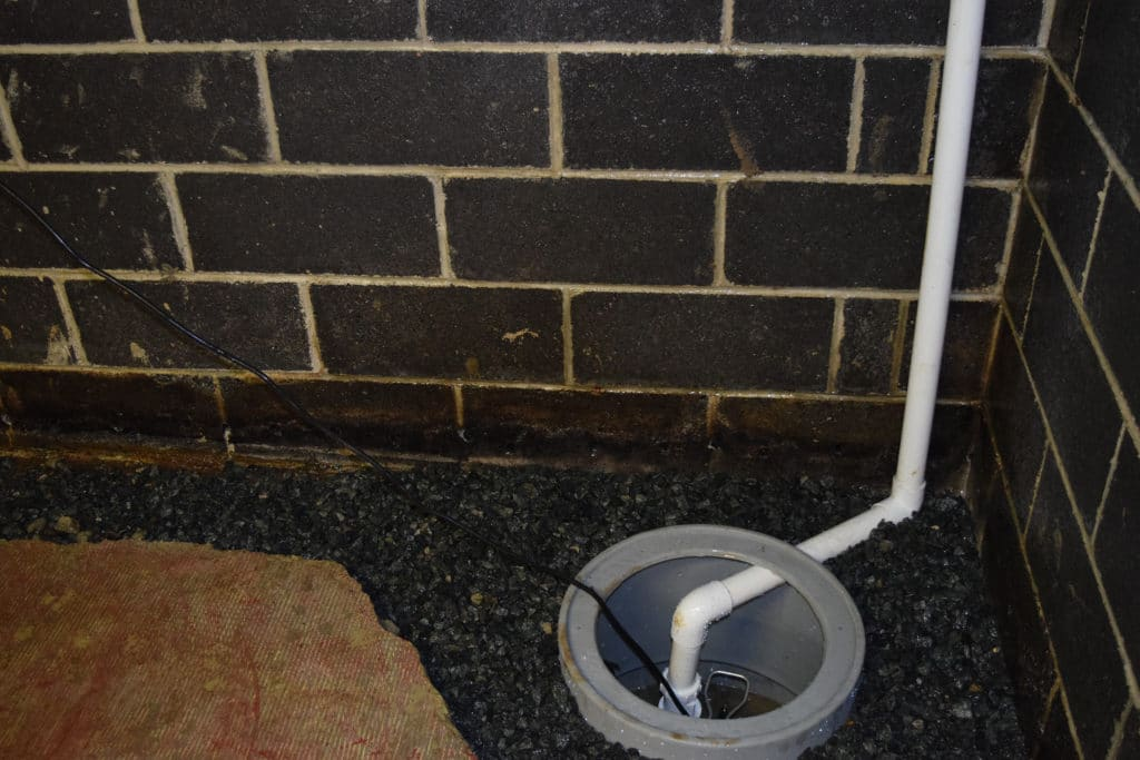 sump put and sump pit installed in a NJ basement