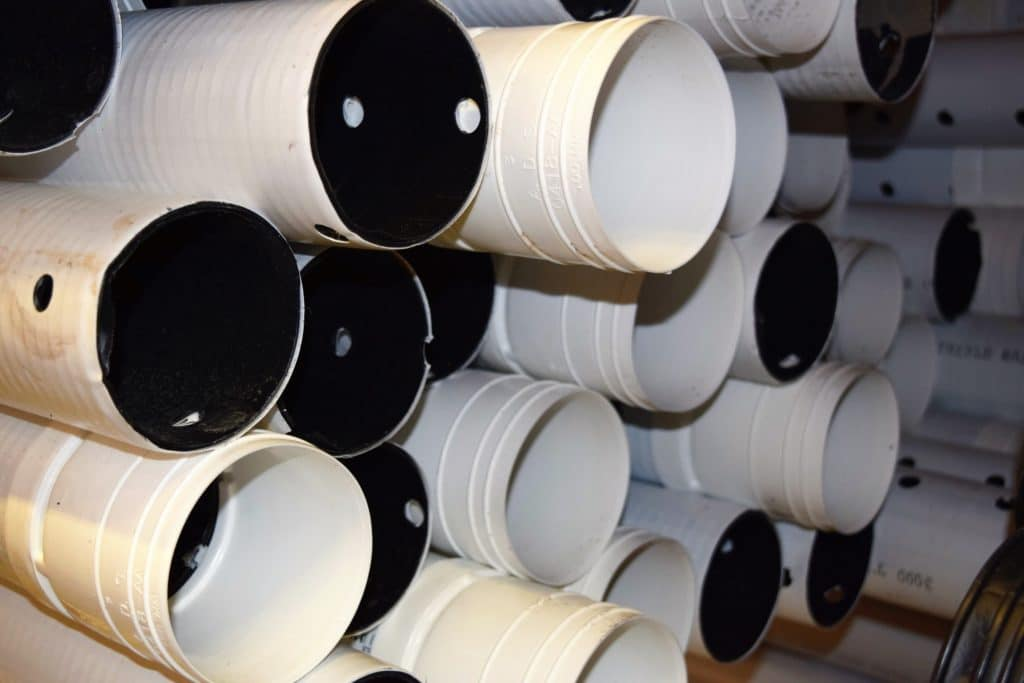 4-inch ADS perforated PVC drainage pipe